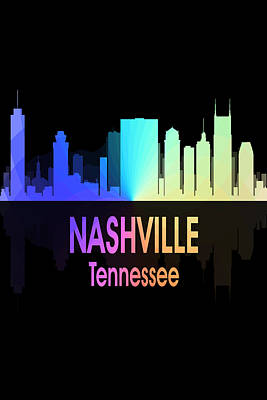 Nashville Tn 5 Vertical Poster by Angelina Vick