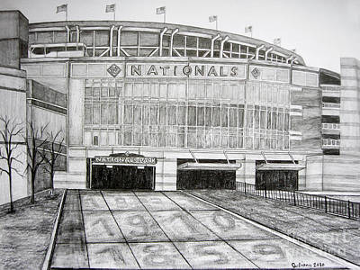 Nationals Park Poster by Juliana Dube