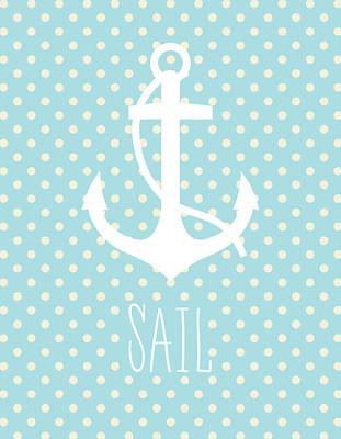 Nautical Anchor Art Print Poster by Taylan Soyturk