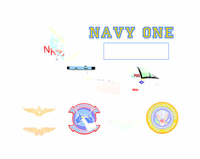 Navy One Poster by Mike Ray