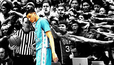 Nc Tarheel Under Pressure 1a Poster by Brian Reaves