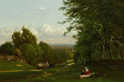 Near Leeds, New York Poster by George Inness