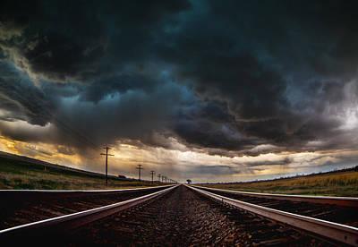Nebraska Storm Hwy 30 Poster by Darren  White