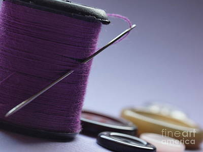 Needle And Thread Poster by Valerie Morrison