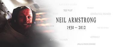 Neil Armstrong Poster by Daniel Hagerman
