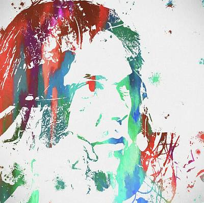 Neil Young Paint Splatter Poster by Dan Sproul