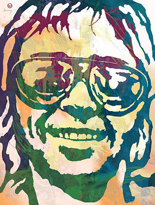 Neil Young Pop Stylised Art Poster Poster by Kim Wang