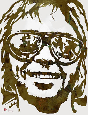 Neil Young Pop  Stylised Art Sketch Poster Poster by Kim Wang