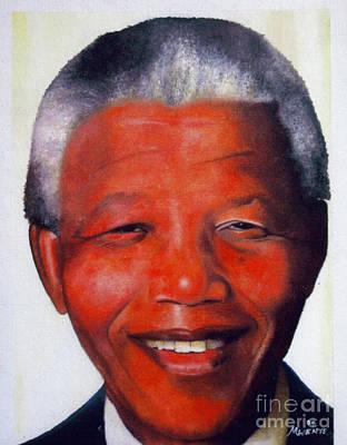Nelson Mandela Poster by Abu Artist