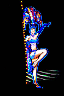Neon Showgirl Poster by Az Jackson