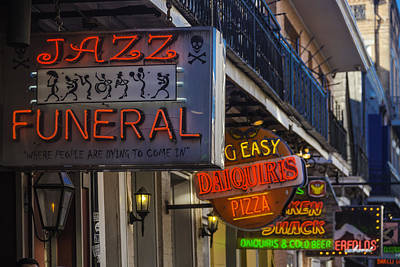 Neon Signs New Orleans Poster by Garry Gay