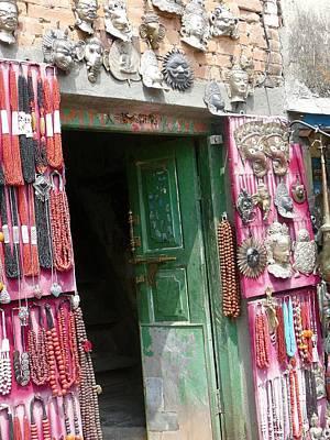 Nepalese Jewelry Shop Poster by Dagmar Batyahav