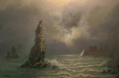Neptune's Finger Poster by Tom Shropshire