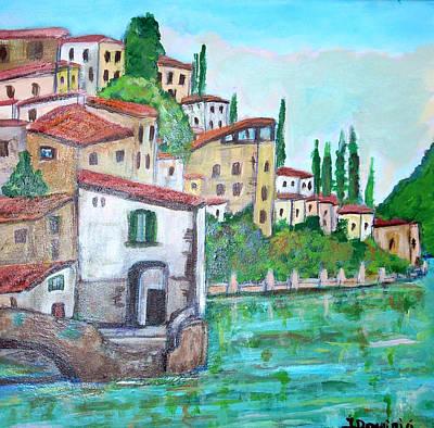 Nesso Village In Lake Como Poster by Teresa Dominici