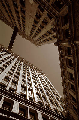New Heights - Wrigley Building - Chicago Poster by Dmitriy Margolin