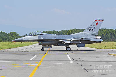 New Jersey Air National Guard F-16c Poster by Daniele Faccioli