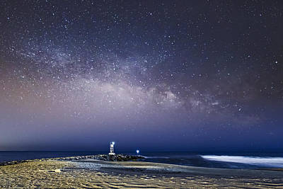 New Jersey Shore Milky Way Rising Poster by Susan Candelario