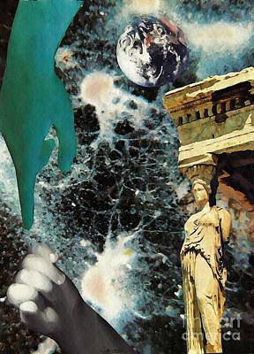 New Life In Ancient Time-space Poster by Sarah Loft