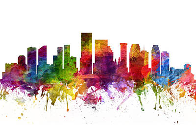 New Orleans Cityscape 06 Poster by Aged Pixel