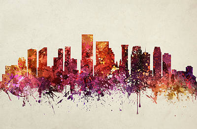 New Orleans Cityscape 09 Poster by Aged Pixel
