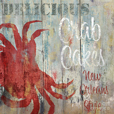 New Orleans Crab Cakes Poster by Mindy Sommers