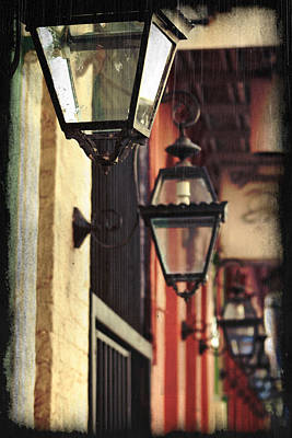 New Orleans Gas Lamps Poster by Jarrod Erbe