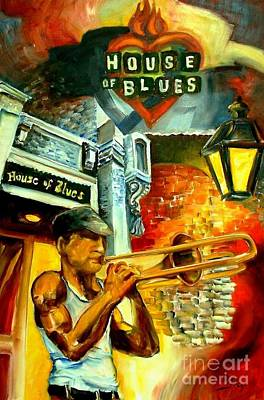 New Orleans' House Of Blues Poster by Diane Millsap