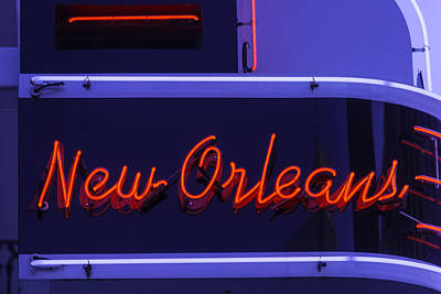 New Orleans Neon Poster by Garry Gay