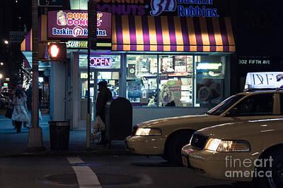 New York At Night  Poster by John Farnan