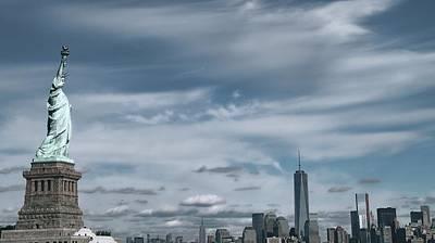New York City Manhattan Panorama Poster by Dan Sproul