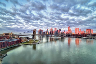 New York City Poster by Photography by Steve Kelley aka mudpig
