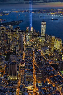 New York City Remembers September 11 - Poster by Susan Candelario