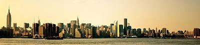 New York City Skyline Panorama Poster by Vivienne Gucwa