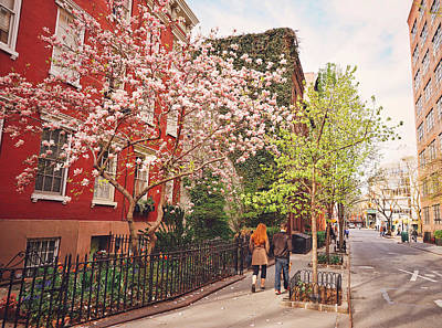 New York City - Springtime - West Village Poster by Vivienne Gucwa