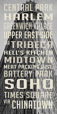 New York City Subway Stops Flat Iron Building Poster by Edward Fielding