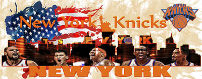 New York Knicks Poster by Don Kuing