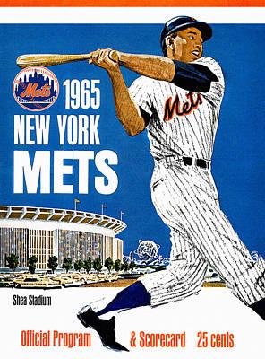 New York Mets 1965 Official Program Poster by Big 88 Artworks