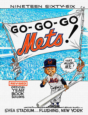 New York Mets 1966 Yearbook Poster by Big 88 Artworks