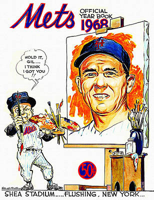 New York Mets 1968 Yearbook Poster by Big 88 Artworks