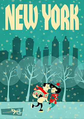 New York Poster by Daviz Industries