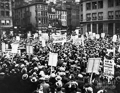 New York: Seamens Strike Poster by Granger