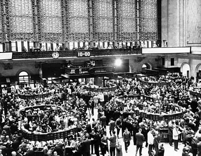 New York Stock Exchange During Heavy Poster by Everett