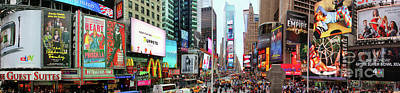 New York Times Square Panorama Poster by Kasia Bitner