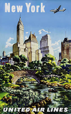 New York United Air Lines Poster by Mark Rogan