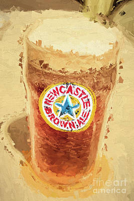 Newcastle Brown Ale Digital Artwork Poster by Jorgo Photography - Wall Art Gallery