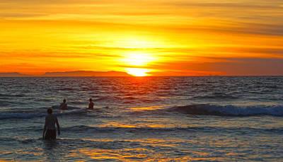 Newport Beach Sunset Poster by Habib Ayat