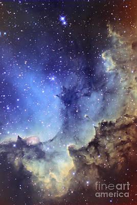 Ngc 7380 Emission Nebula In Cepheus Poster by Ken Crawford