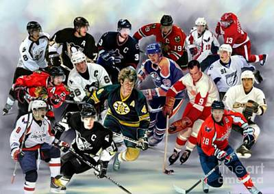 Nhl Superstars And Legends Poster by Blackwater Studio