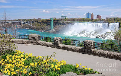 Niagara Falls Spring Time Poster by Charline Xia