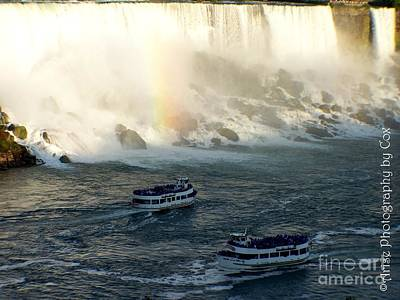 Niagra Falls Maid Of The Mist Boat Ride Poster by Charlene Cox
